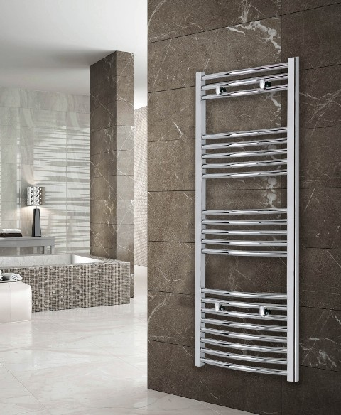 Luca Curved Heated Towel Radiator