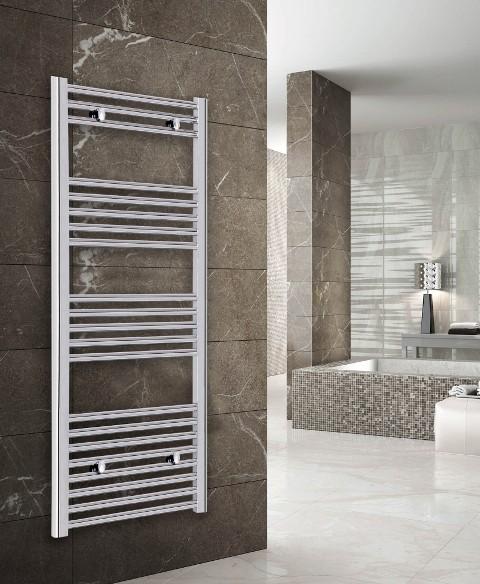 Luca Flat Heated Towel Radiator Chrome